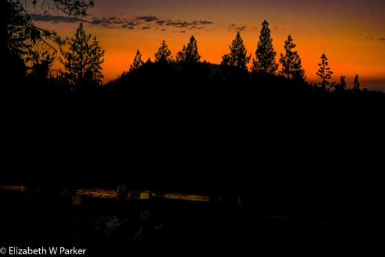 Fiery sunset - Stanislaus National Forest