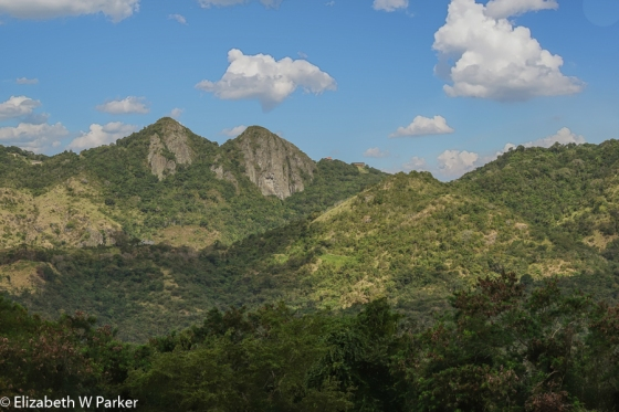 Famous view of the mountains of the Cordillera Central on the way back to San Juan.
